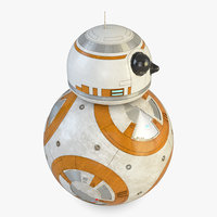 3D star wars bb-8 droid model
