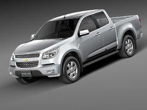 3d chevrolet colorado 2012 pickup model
