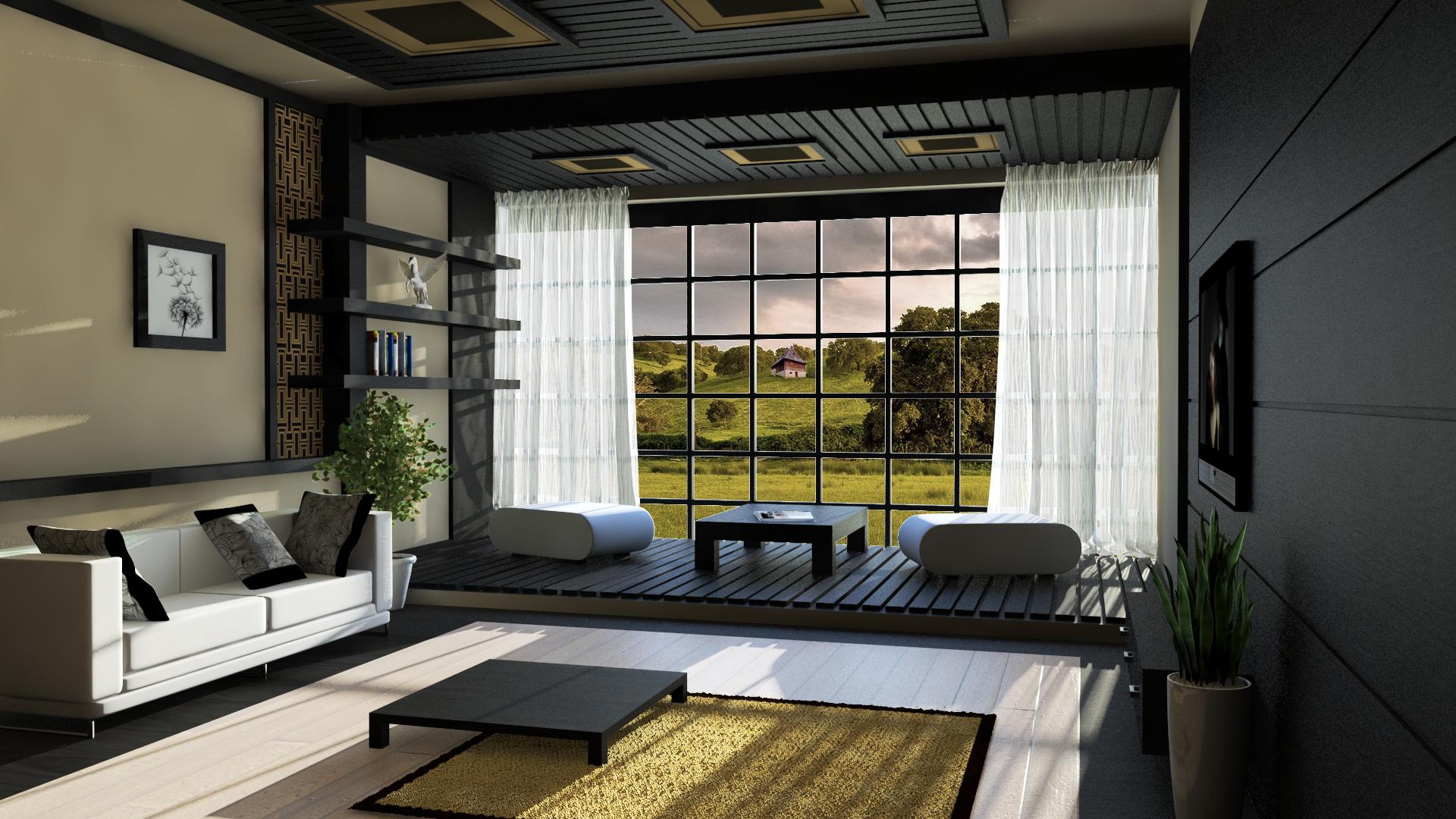 modern japanese living room – Freshsdg