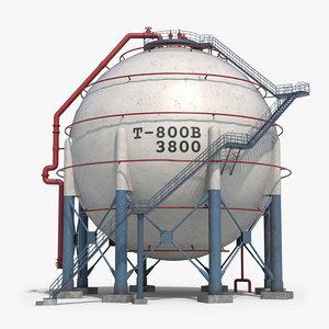 ready spherical tank storage 3D model