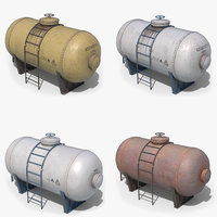oil tank containers 3D model