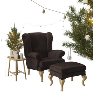 christmas spruce wing chair 3D model