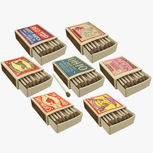3D matchboxes retro v1 model