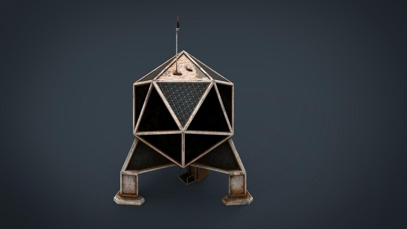 sci-fi colony building model