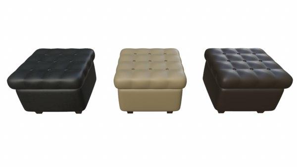 ready leather pouf sofa 3D