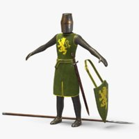 3D model 13th century knight