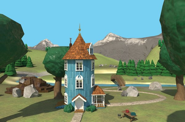 3D moominvalley moomins model