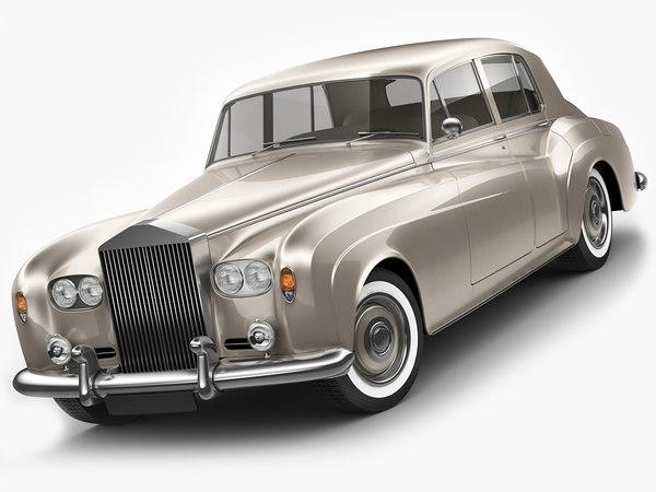 classic vintage limousine 3D model
