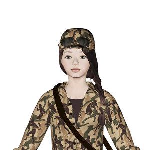 3D girl robbie