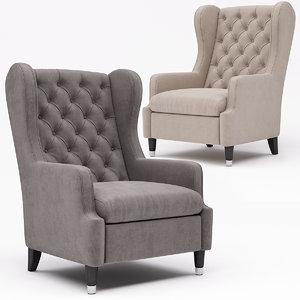 armchair chair tosconova 3D model
