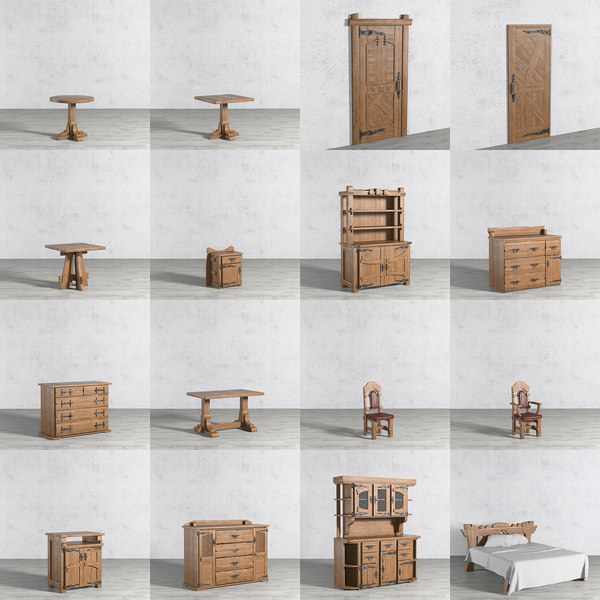 wooden furniture 3D model