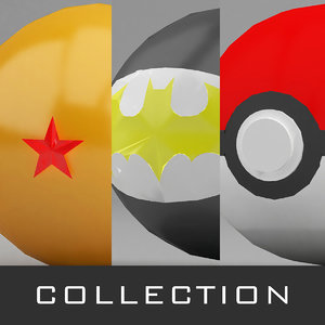 3D dragon ball pokeballs