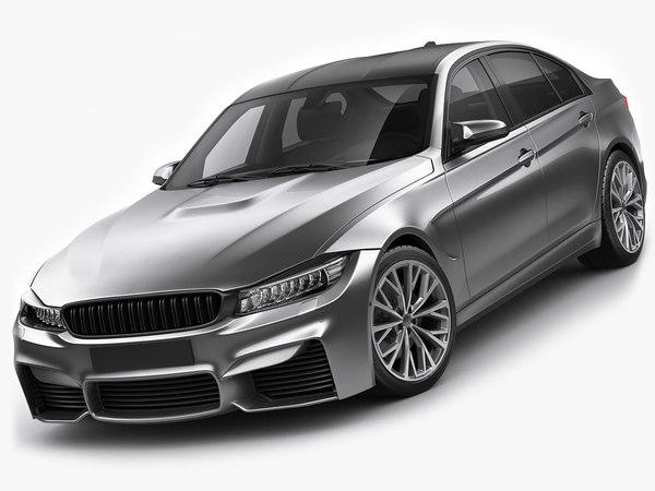 generic sport sedan 3D model