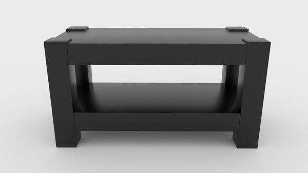 black modern table 3D model
