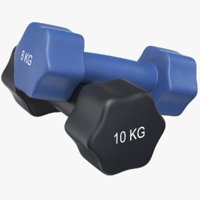3D dumb bells dumbbells