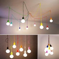hanging lamp rainbow light bulbs 3D model
