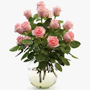 3D rose bouquet model