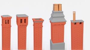 chimney 10 set 3D model