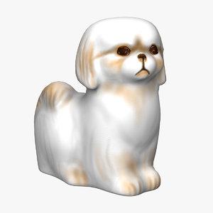dog statuette statue 3D model