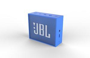jbl go1 blue speaker 3D model