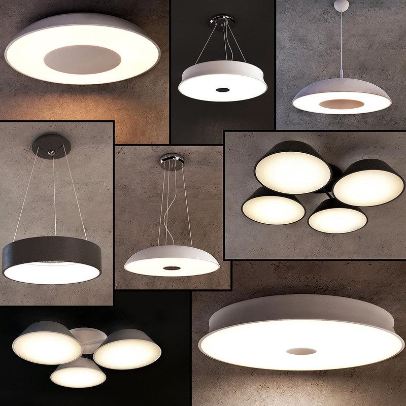 3D ceiling lamps 22 light model