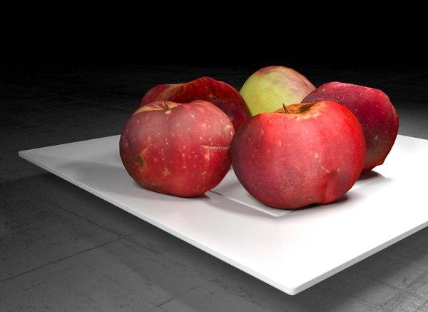 scanned apples 3D