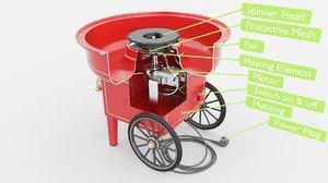 machine cotton candy 3D model