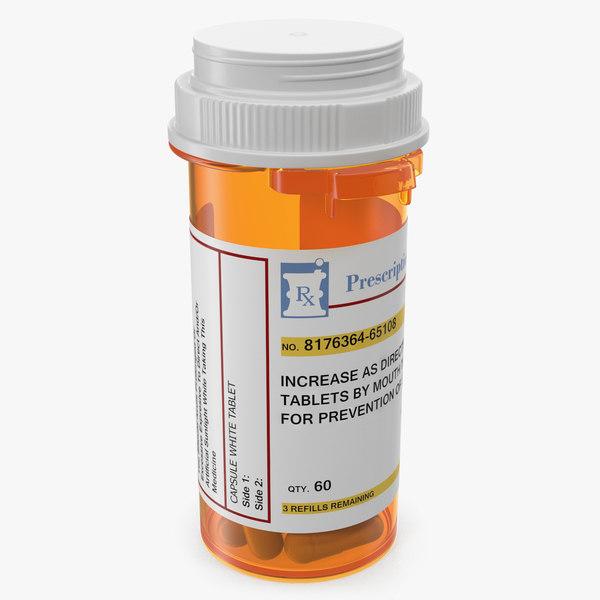 3D pill bottle