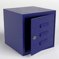 modular box locker 3D