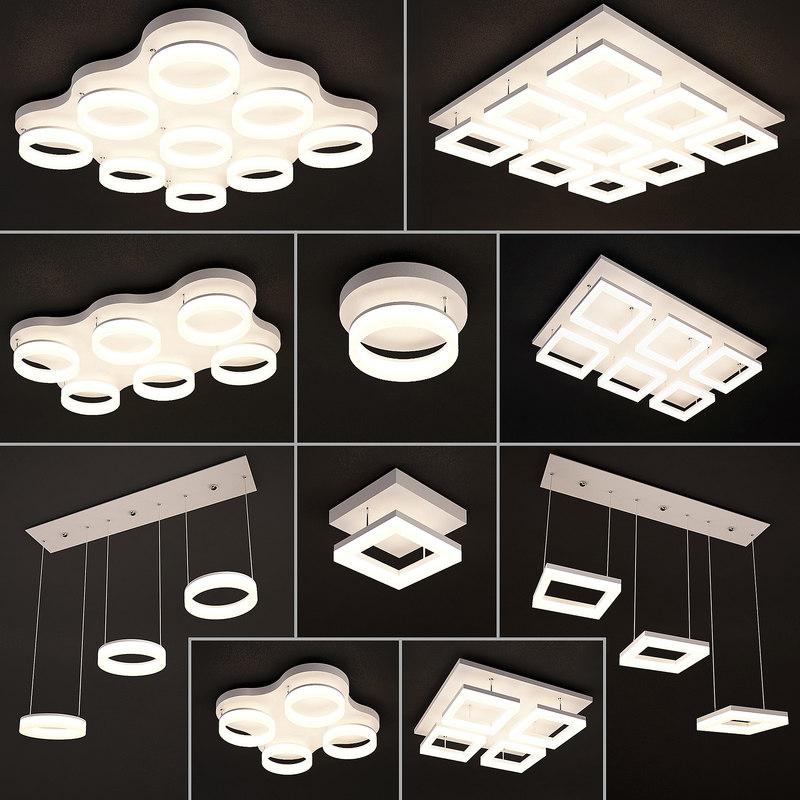 ceiling lamps 24 light 3D model