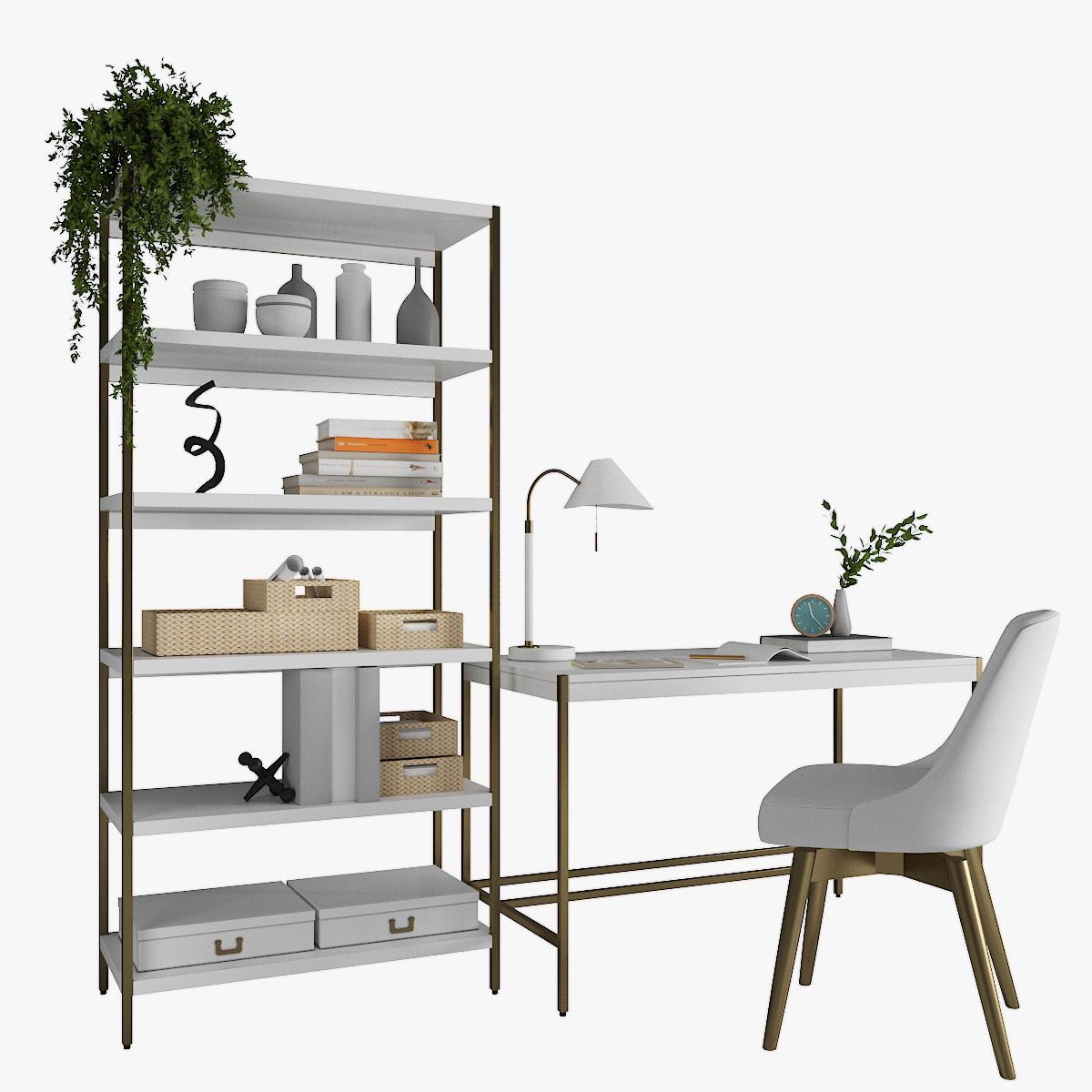 West Elm Zane Desk Zane Wide Bookshelf Swivel Office Chair