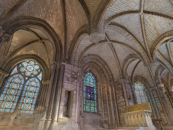 gothic architecture cathedral packed 3D model