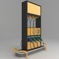 fuel station petrol pump 3D model