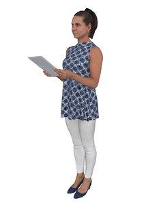 scanned woman office suites 3D model
