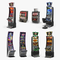 Casino Slot Machines 3D Models Collection 2