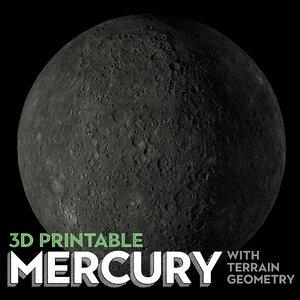 mercury planet printable 3D model