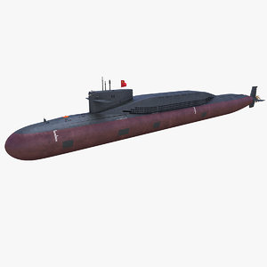 3D chinese type094 nuclear submarine
