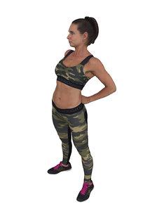 3D scanned people woman sportswear
