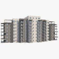 3D apartment building 29