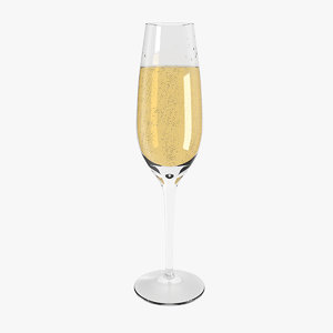 champagne glass 3D model