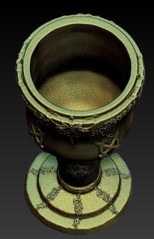 medieval goblet 3D