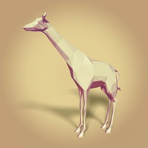 3D cartoon giraffe