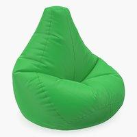 3D star bean bag chair model