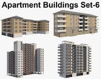 4 Apartment Buildings Set_6