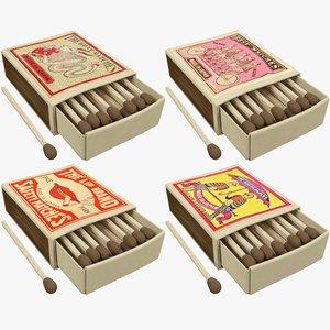 matchboxes retro v3 3D