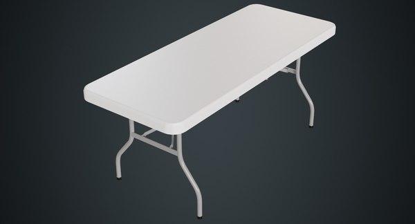 folding table 1a 3D model