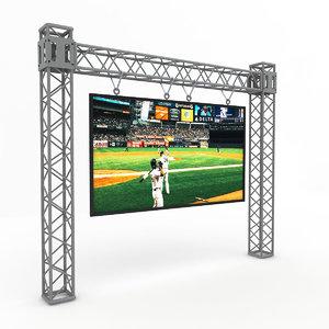 3D scaffolding led screen model