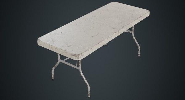 folding table 1b 3D model