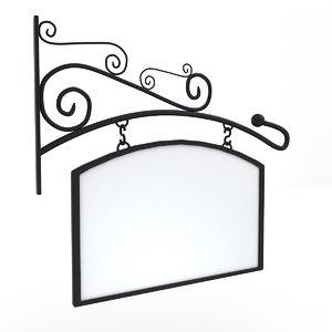 3D hanging sign model