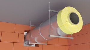 pipe insulation 3D model